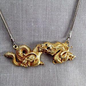 Vintage Dragon Necklace by Alva Museum Reps